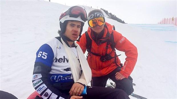 Semaine intense pour Eliot Grondin, de ses victoires au Mont-Orignal à sa vilaine chute en Suisse