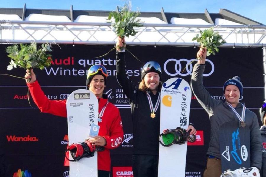 Éliot Grondin, vice-champion du monde junior au snowboard cross!